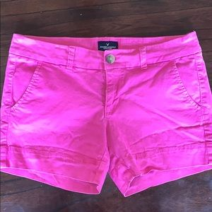 Hot Pink American Eagle midi short